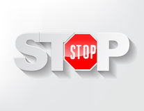 Stop Text Royalty Free Stock Images
