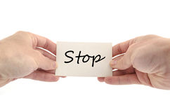 Stop text concept Stock Image