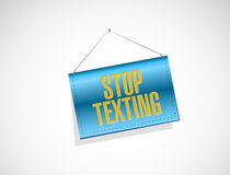 stop texting banner sign concept Stock Photo