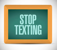 stop texting board sign concept illustration Royalty Free Stock Images