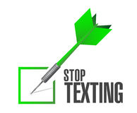 Stop texting check sign concept Stock Images