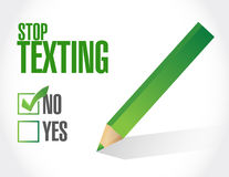Stop texting checklist sign concept Stock Images