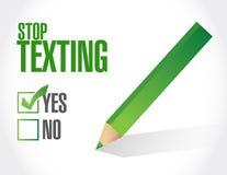 Stop texting checklist sign concept Stock Photos