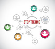 stop texting people diagram sign concept Stock Photos