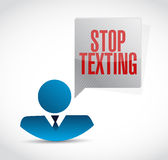 Stop texting people sign concept illustration Stock Image