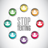 Stop texting people sign concept Stock Photos
