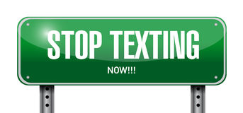 Stop texting post sign concept Stock Photography
