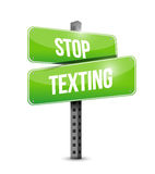 Stop texting street sign concept Stock Images