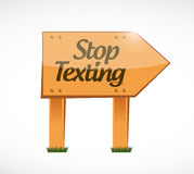 Stop texting wood sign concept Stock Images