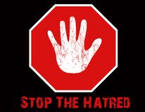 Free Stop The Hatred Illustration Royalty Free Stock Photo - 197372825