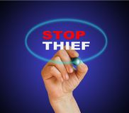 STOP THIEF Royalty Free Stock Photography