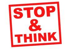 STOP & THINK Stock Photos