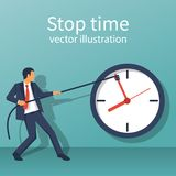 Stop time concept. Business metaphor stock illustration