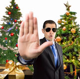 Stop to Christmas Stock Photography