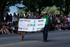 Stop Torture in Iran, Vancouver Pride Parade Royalty Free Stock Images
