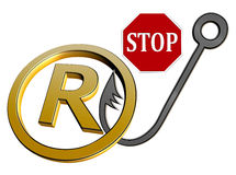 Stop Trademark Infringement Royalty Free Stock Photos