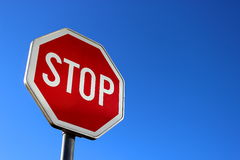 Stop traffic sign Stock Image