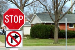 Stop Traffic Sign  On Country Road Stock Photo