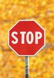 Stop traffic sign Stock Images