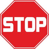 Stop traffic sign symbol. Isolated Stock Photo
