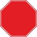Stop traffic sign symbol no letters. Stop traffic sign symbol isolated no letters background Stock Photography
