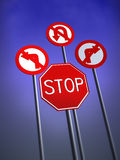 Stop Traffic Signs Royalty Free Stock Images