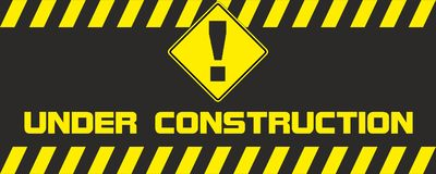 Stop Trafic sign under construction. Stop Trafic sign warning icon under construction Royalty Free Stock Images