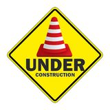 Stop Trafic sign under construction. Stop Trafic sign warning icon under construction  JPEG EPS Stock Photography