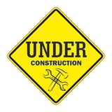 Trafic sign under construction. Rafic sign warning icon under construction Stock Images