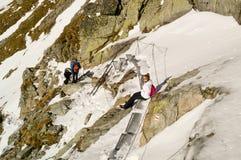 Stop on the trail. Tatransky narodny park. Vysoke Tatry. Slovakia. royalty free stock image