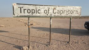 Stop by the tropic of Capricorn signboard royalty free stock photo