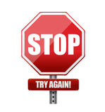 Stop try again road sign illustration Stock Image