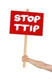 Stop TTIP Royalty Free Stock Photos