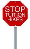 Stop Tuition Hikes Royalty Free Stock Photography