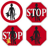 Stop the use of Child Soldier. Defined in the United Nations Convention on the Rights of the Child Stock Images