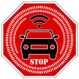 Stop the use of self driving cars Stock Photo