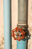 Stop valve. Water pipe stop valve Stock Image