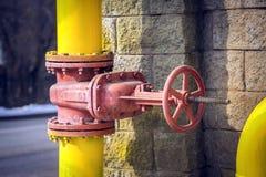 Stop valves. Royalty Free Stock Photos