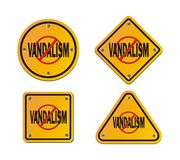 Stop vandalism - roadsigns Stock Photos