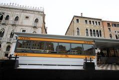 Stop of vaporetto sea trams Ca'D'Oro on Grand Canal.  VENICE, ITALY Stock Photo