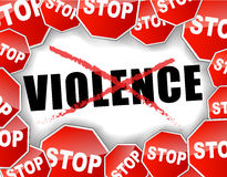 Stop violence royalty free illustration