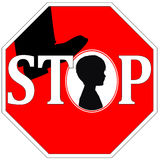 Stop Violence against Children Royalty Free Stock Image