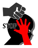Stop Violence against Kids Royalty Free Stock Photo
