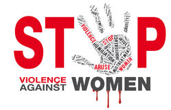 Stop violence against women Stock Photo