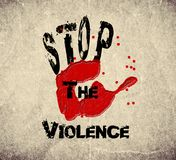 Stop the violence stock illustration