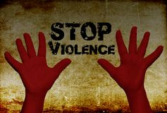 Stop violence against women stock photos
