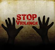 Stop violence against women stock illustration