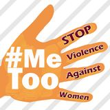 Stop violence against women Me too symbol grunge vintage Stock Image