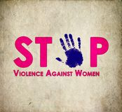 Stop violence against women retro Stock Images