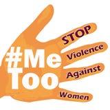 Stop violence against women Me too symbol grunge vintage Stock Images